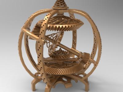 地动仪-3d打印模型