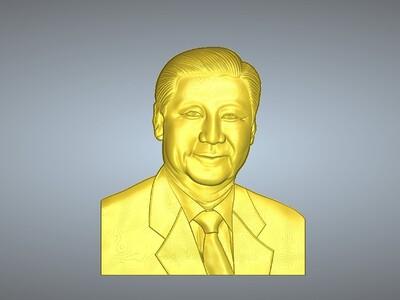 习主席国家主席 吊坠-3d打印模型