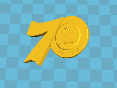 70周年徽章