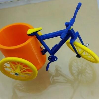 笔筒车-3d打印模型