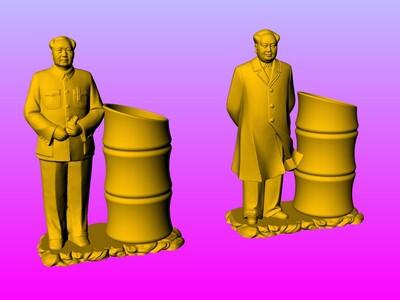 毛主席笔筒 1-3d打印模型