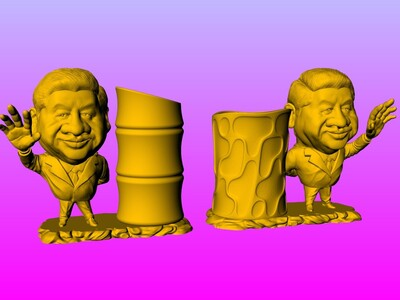 习主席笔筒 1-3d打印模型