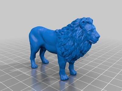雄狮-3d打印模型