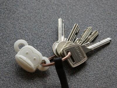 猴头钥匙扣-3d打印模型