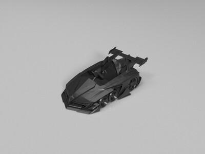 跑跑卡丁车-传说-赤炎魔鬼加速状态-3d打印模型