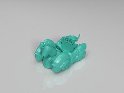 跑跑卡丁车-传说-独角兽-3d打印模型