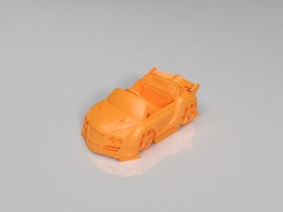 跑跑卡丁车-传说-黄金敞篷跑车加速状态-3d打印模型