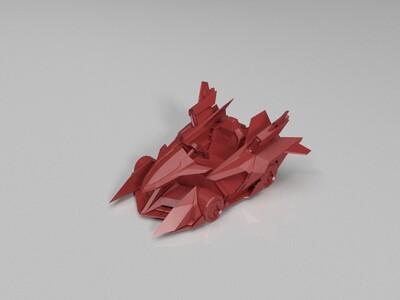 跑跑卡丁车-传说-绯红尖峰-3d打印模型