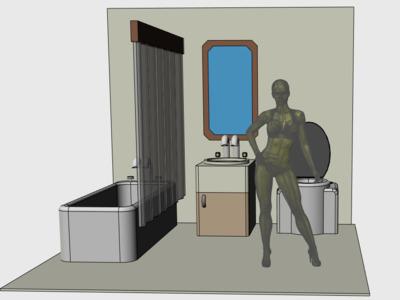 1:6兵人场景摆件浴室-3d打印模型