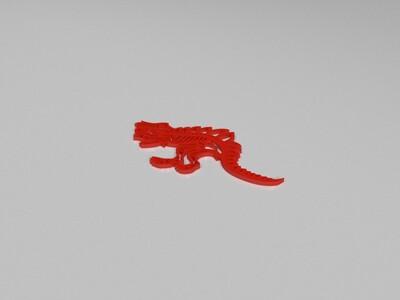 恐龙平面骨架-3d打印模型
