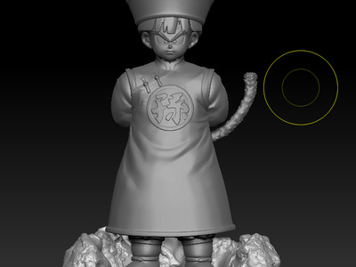 龙珠悟饭小时候-3d打印模型
