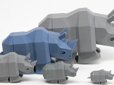 奔跑的犀牛-3d打印模型