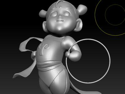 小哪吒-3d打印模型