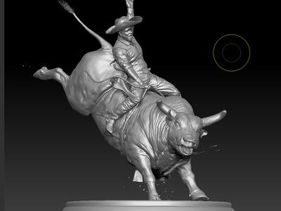 斗牛骑士-3d打印模型