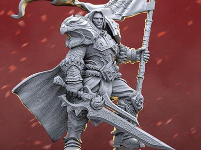 wow瓦里安国王-3d打印模型