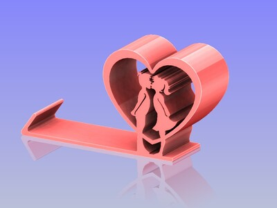 情人手机支架 10-3d打印模型