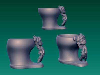 哪吒杯 原创-3d打印模型