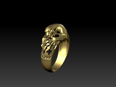 凶猛老虎戒子-3d打印模型