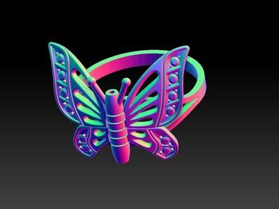 花蝴蝶戒子-3d打印模型