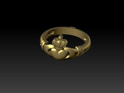 情侶心形戒子-3d打印模型