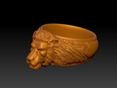 狮子戒子-3d打印模型