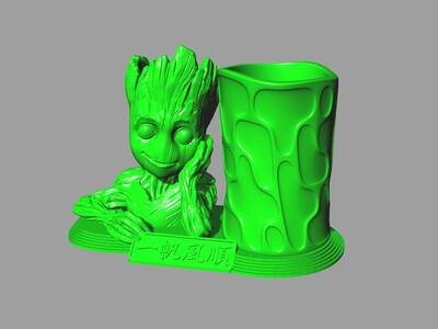 树人格鲁特一帆风顺友情长存金榜题名笔筒-3d打印模型