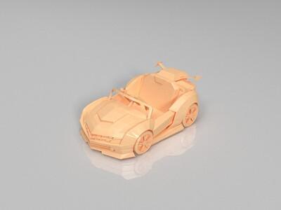 跑跑卡丁车-传说-克尔维特-3d打印模型