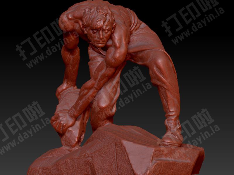 俄罗斯人物雕塑-3d打印模型