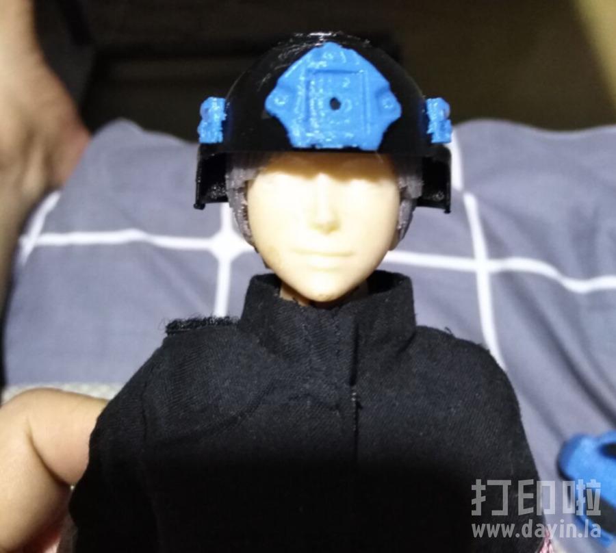 1:6兵人用MICH2000战术头盔+夜视仪-3d打印模型