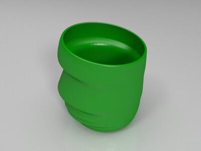 不规则人脸瓶子-3d打印模型