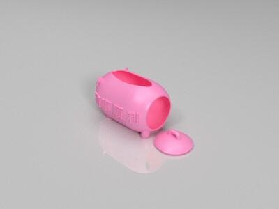 小猪纸巾盒-3d打印模型