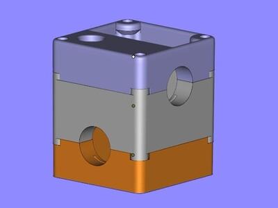 UM喷头固定模块-3d打印模型