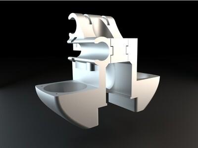 UM2 E3D V6喷头固定模块-3d打印模型