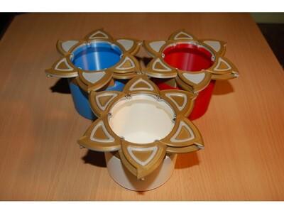 漂亮的旋转花杯-3d打印模型