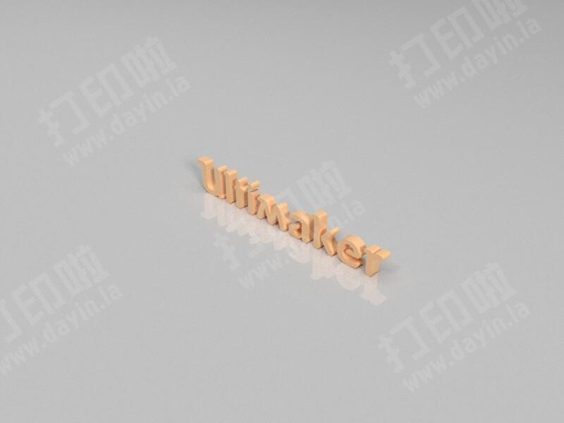 Ultimaker字母LOGO-3d打印模型