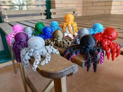 小章鱼-3d打印模型