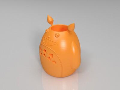 龙猫笔筒-3d打印模型