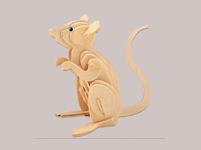 12生肖-立体拼图 鼠-3d打印模型