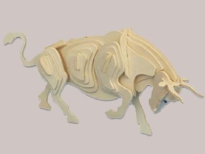 12生肖-立体拼图 牛-3d打印模型