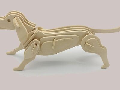 12生肖-立体拼图 狗-3d打印模型