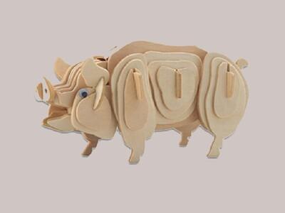 12生肖-立体拼图 猪-3d打印模型