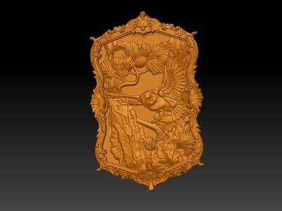 猫头鹰浮雕画-3d打印模型