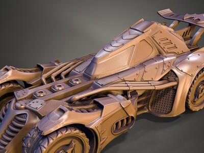 DC 蝙蝠侠 蝙蝠车 -3d打印模型