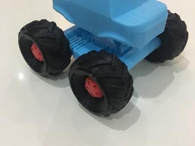 有避震器的大脚怪-3d打印模型