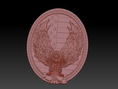 美国鹰吊坠-2-3d打印模型
