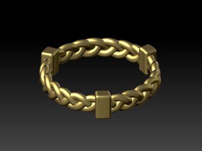 锁链指戒-3d打印模型