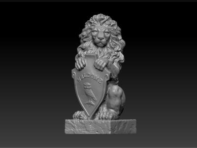 站立的狮子-3d打印模型