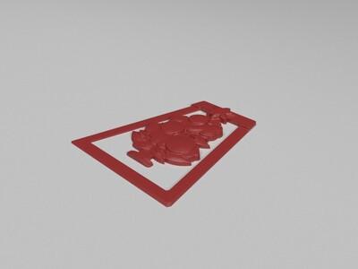 圣诞书签-3d打印模型