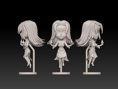 dota2-火女莉娜-3d打印模型
