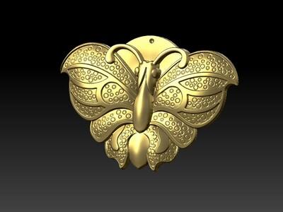 蝴蝶吊坠-3d打印模型